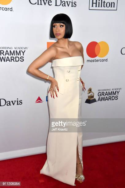 Recording artist Cardi B attends the Clive Davis and Recording Academy PreGRAMMY Gala and GRAMMY Salute to Industry Icons Honoring JayZ on January 27...