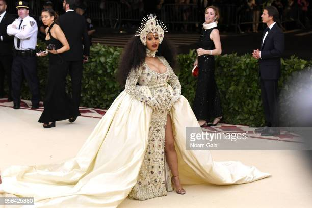 Recording artist Cardi B attends the Heavenly Bodies Fashion The Catholic Imagination Costume Institute Gala at The Metropolitan Museum of Art on May...
