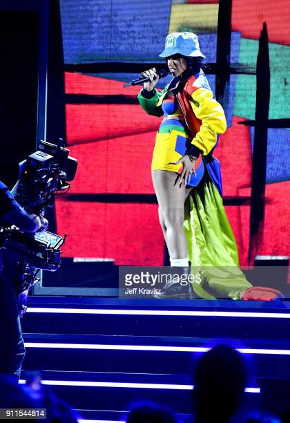 Recording artist Cardi B perform onstage during the 60th Annual GRAMMY Awards at Madison Square Garden on January 28 2018 in New York City
