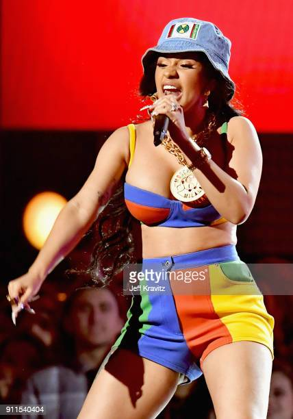 Recording artist Cardi B performs onstage during the 60th Annual GRAMMY Awards at Madison Square Garden on January 28 2018 in New York City