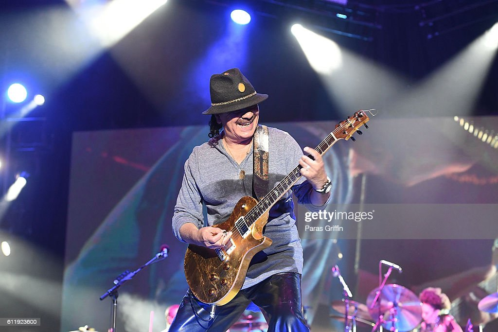 Recording artist Carlos Santana performs onstage at 2016 Many Rivers to Cross Festival at Bouckaert Farm on October 1, 2016 in Fairburn, Georgia.