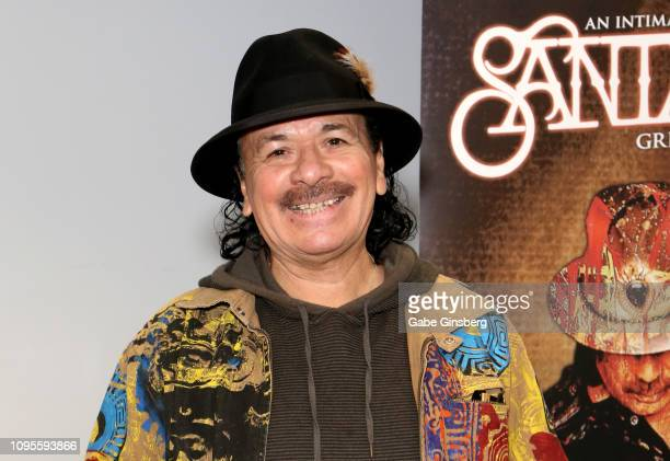 Recording artist Carlos Santana poses after making a donation at Spread the Word Nevada on January 17 2019 in Henderson Nevada