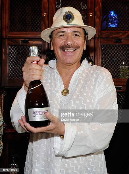 Recording artist Carlos Santana unveils his Mumm Napa Supernatural Rose sparkling wine at the House of Blues Las Vegas Foundation Room inside the...