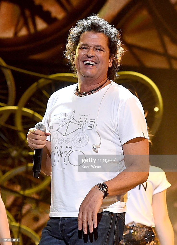 Recording artist Carlos Vives performs onstage during rehearsals for the 17th annual Latin Grammy Awards at T-Mobile Arena on November 16, 2016 in Las Vegas, Nevada.