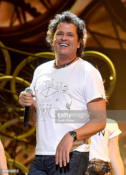 Recording artist Carlos Vives performs onstage during rehearsals for the 17th annual Latin Grammy Awards at TMobile Arena on November 16 2016 in Las...