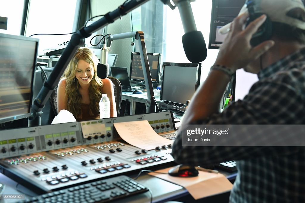 Recording Artist Carly Pearce visits SiriusXM Host Storme Warren at the SiriusXM Nashville Studios to announce her debut album 'Every Little Thing' on August 22, 2017 in Nashville, Tennessee.