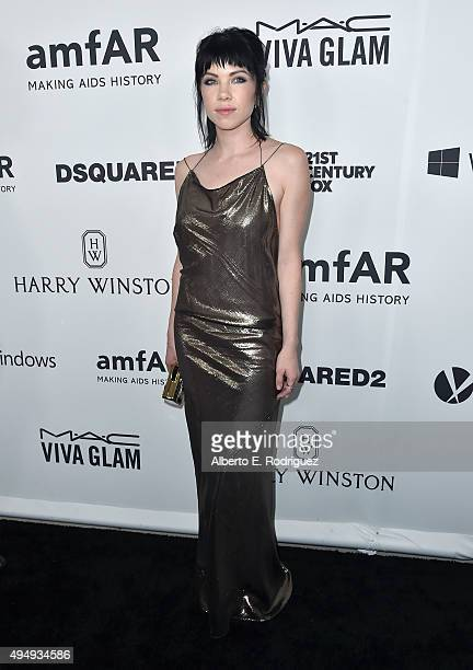 Recording artist Carly Rae Jepsen attends amfAR's Inspiration Gala Los Angeles at Milk Studios on October 29 2015 in Hollywood California