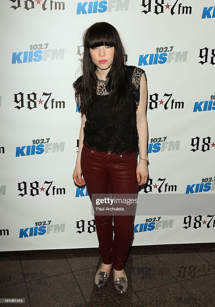 Recording Artist Carly Rae Jepsen attends the 102.7 KIIS FM and 98.7 5th annual celebrity artist lounge celebrating the 55th Annual GRAMMYS at ESPN Zone At L.A. Live on February 8, 2013 in Los Angeles, California.