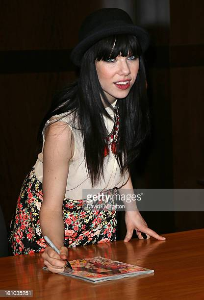 Recording artist Carly Rae Jepsen attends the Seventeen Magazine March Cover Girl InStore signing at Barnes Noble bookstore at The Grove on February...