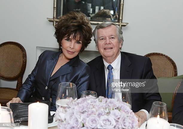 Recording artist Carole Bayer Sager and Bob Daly attend VIOLET GREY Honors Elizabeth Taylor At She's So Violet Salon Dinner on February 26 2014 in...