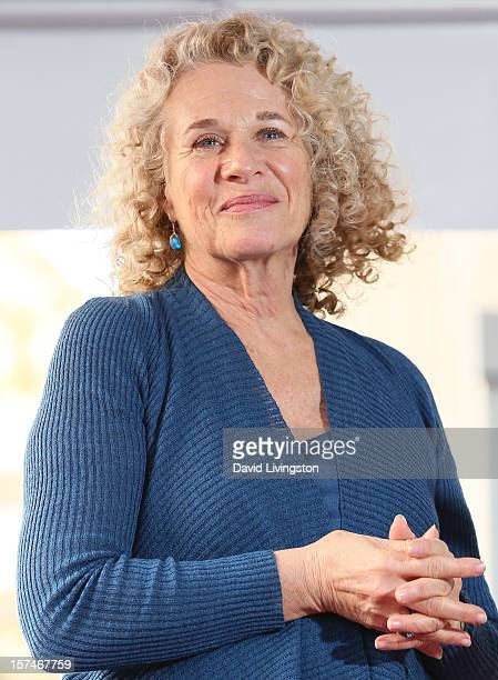 Recording artist Carole King is honored with a Star on the Hollywood Walk of Fame on December 3 2012 in Hollywood California