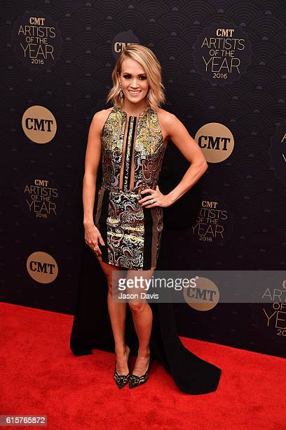 Recording Artist Carrie Underwood arrives at 2016 CMT Artists of the Year at Schermerhorn Symphony Center on October 19 2016 in Nashville Tennessee
