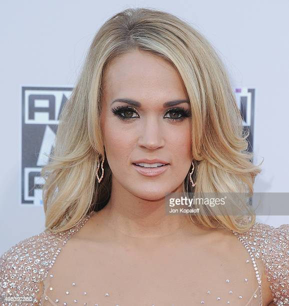 Recording artist Carrie Underwood arrives at the 2015 American Music Awards at Microsoft Theater on November 22 2015 in Los Angeles California