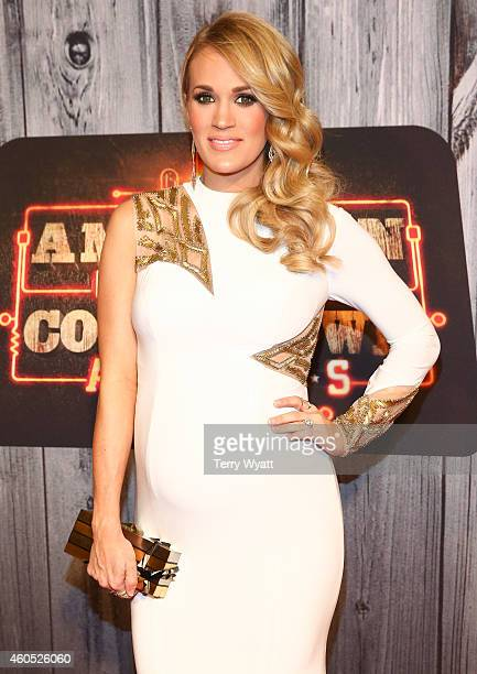 Recording artist Carrie Underwood attends the 2014 American Country Countdown Awards at Music City Center on December 15 2014 in Nashville Tennessee