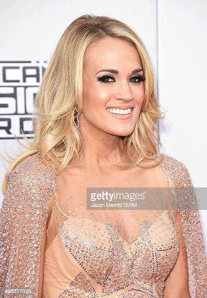 Recording artist Carrie Underwood attends the 2015 American Music Awards at Microsoft Theater on November 22 2015 in Los Angeles California