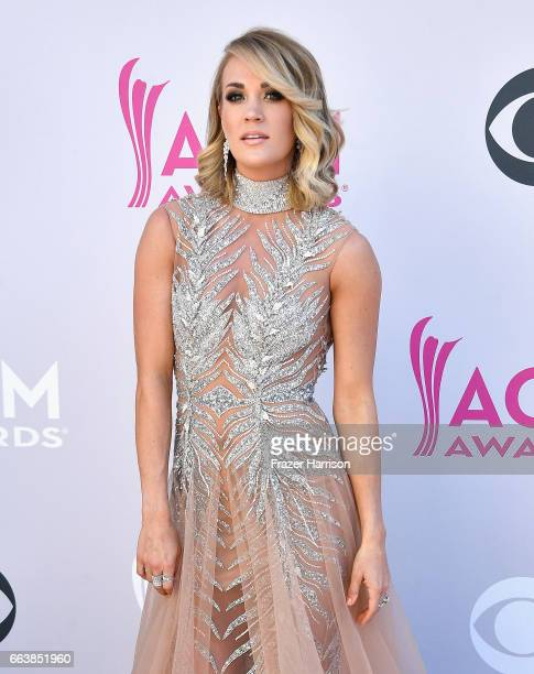 Recording artist Carrie Underwood attends the 52nd Academy Of Country Music Awards at Toshiba Plaza on April 2 2017 in Las Vegas Nevada