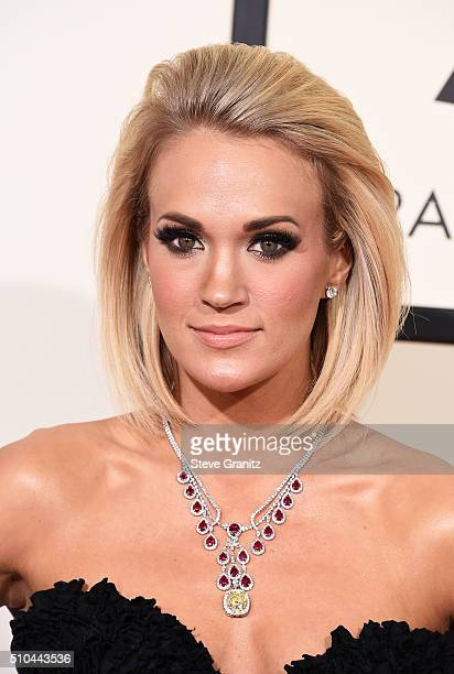 Recording artist Carrie Underwood attends The 58th GRAMMY Awards at Staples Center on February 15 2016 in Los Angeles California