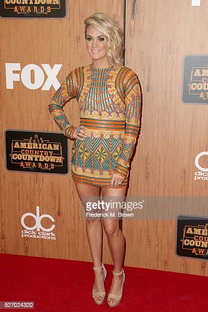 Recording artist Carrie Underwood poses in the press room during the 2016 American Country Countdown Awards at The Forum on May 1 2016 in Inglewood...
