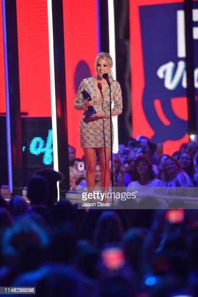 Recording Artist Carrie Underwood recieves award for Female Video of the Year during the 2019 CMT Music Awards at Bridgestone Arena on June 5, 2019...