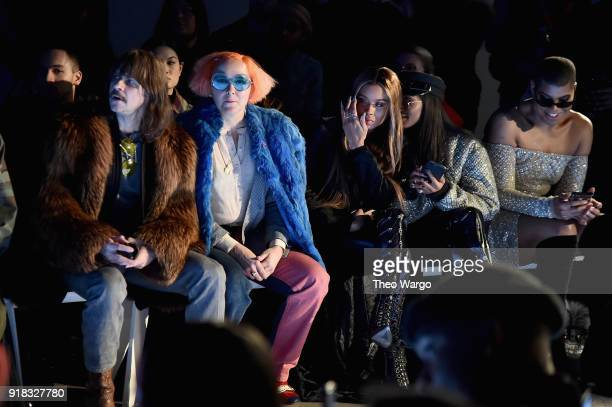 Recording artist Casey Spooner artist K8 Hardy Elisa Johnson and EJ Johnson attend the Laquan Smith front row during New York Fashion Week The Shows...