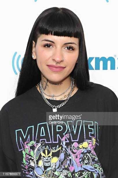 Recording artist Cazzu visits the SiriusXM Studios on July 26 2019 in New York City