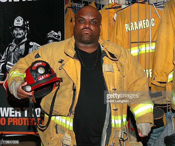 Recording artist Cee Lo Green visits the Sierra Madre Volunteer Fire Dept to thank them on behalf of Duracell's Power Those Who Protect Us Program on...