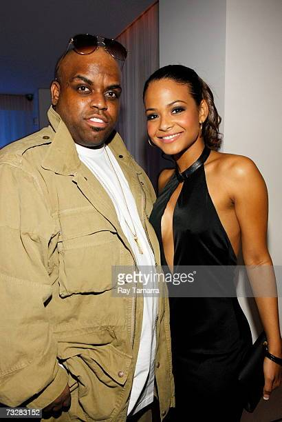 Recording artist Ceelo Green and Christina Milian attend BMI's PreGrammy Party at the Mondrian Hotel February 09 2007 in Los Angeles California