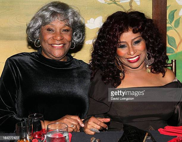 Recording artist Chaka Khan poses with mother Sandra Coleman at Khan's 60th birthday party at Yamashiro Restaurant on March 21 2013 in Los Angeles...