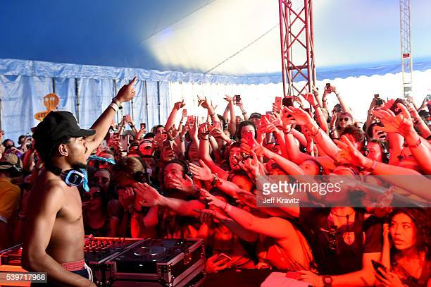 Recording artist Chance The Rapper performs onstage at Silent Disco during Day 4 of the 2016 Bonnaroo Arts And Music Festival on June 9 2016 in...