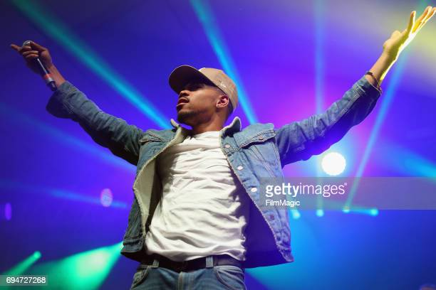 Recording artist Chance the Rapper performs onstage for the 'Soul Shakedown' at This Tent during Day 3 of the 2017 Bonnaroo Arts And Music Festival...