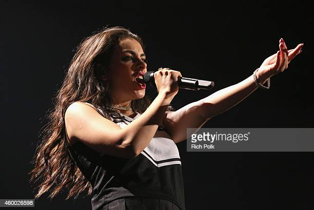 Recording artist Charli XCX performs onstage at KIIS FM's Jingle Ball 2014 Powered by LINE at Staples Center on December 5 2014 in Los Angeles...