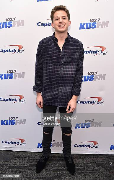 Recording artist Charlie Puth attends 1027 KIIS FM's Jingle Ball 2015 Presented by Capital One at STAPLES CENTER on December 4 2015 in Los Angeles...