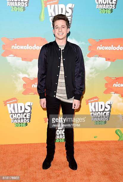 Recording artist Charlie Puth attends Nickelodeon's 2016 Kids' Choice Awards at The Forum on March 12 2016 in Inglewood California