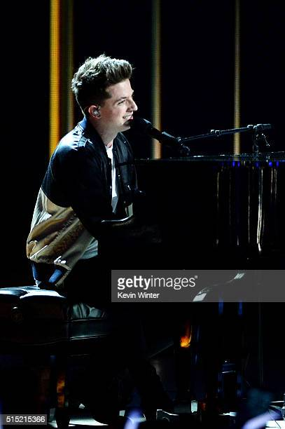 Recording artist Charlie Puth performs onstage during Nickelodeon's 2016 Kids' Choice Awards at The Forum on March 12 2016 in Inglewood California