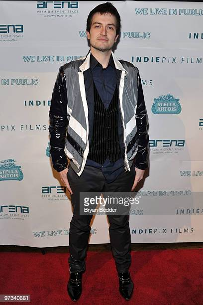 Recording artist Charlie Ward attends the premiere of We Live In Public at the ARENA Event Space on March 1 2010 in New York City