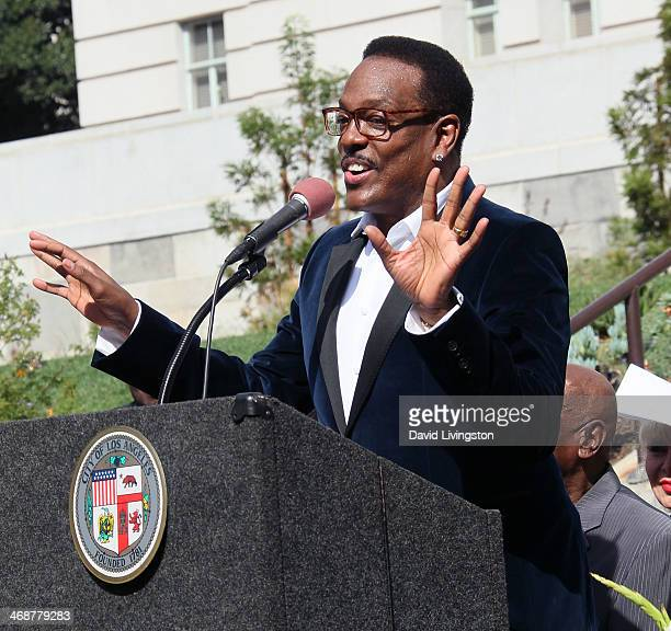 Recording artist Charlie Wilson attends the unveiling of the Shirley Chisholm Forever Stamp at the opening ceremony of the City of Los Angeles'...
