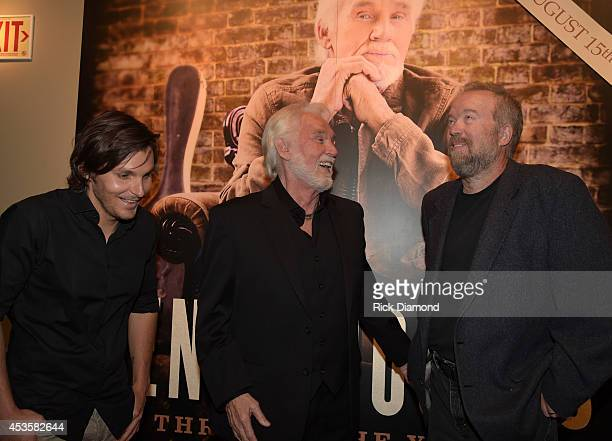 Recording Artist Charlie Worsham, Country Music Hall of Fame member Kenny Rogers and Singer/Songwriter Don Schlitz at the Country Music Hall of Fame...