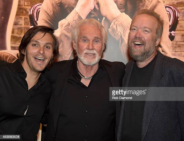Recording Artist Charlie Worsham Country Music Hall of Fame member Kenny Rogers and Singer/Songwriter Don Schlitz at the Country Music Hall of Fame...