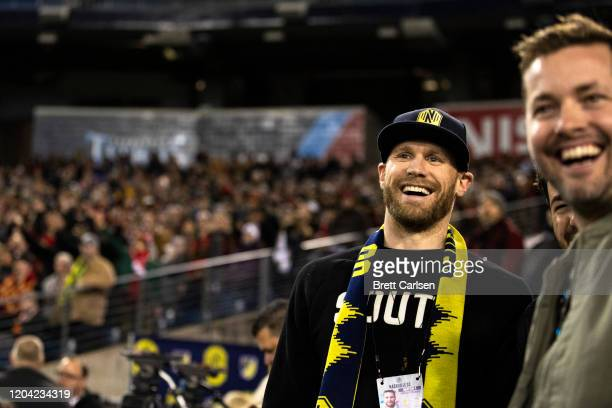 Recording artist Chase Rice attends the match between Nashville SC and Atlanta United at Nissan Stadium on February 29 2020 in Nashville Tennessee