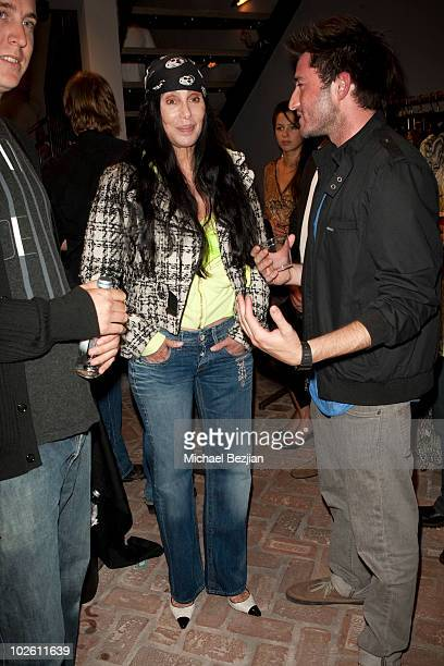 Recording artist Cher attends Elijah Blue's 'Stuff Of Legends' Art Opening at Madison Gallery on July 2 2010 in Los Angeles California