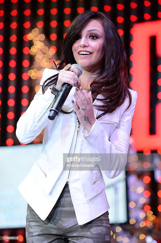 Recording artist Cher Lloyd performs onstage at the 5 Towers Black Friday Concert at 5 Towers Outdoor Concert Arena on November 23, 2012 in Universal City, California.