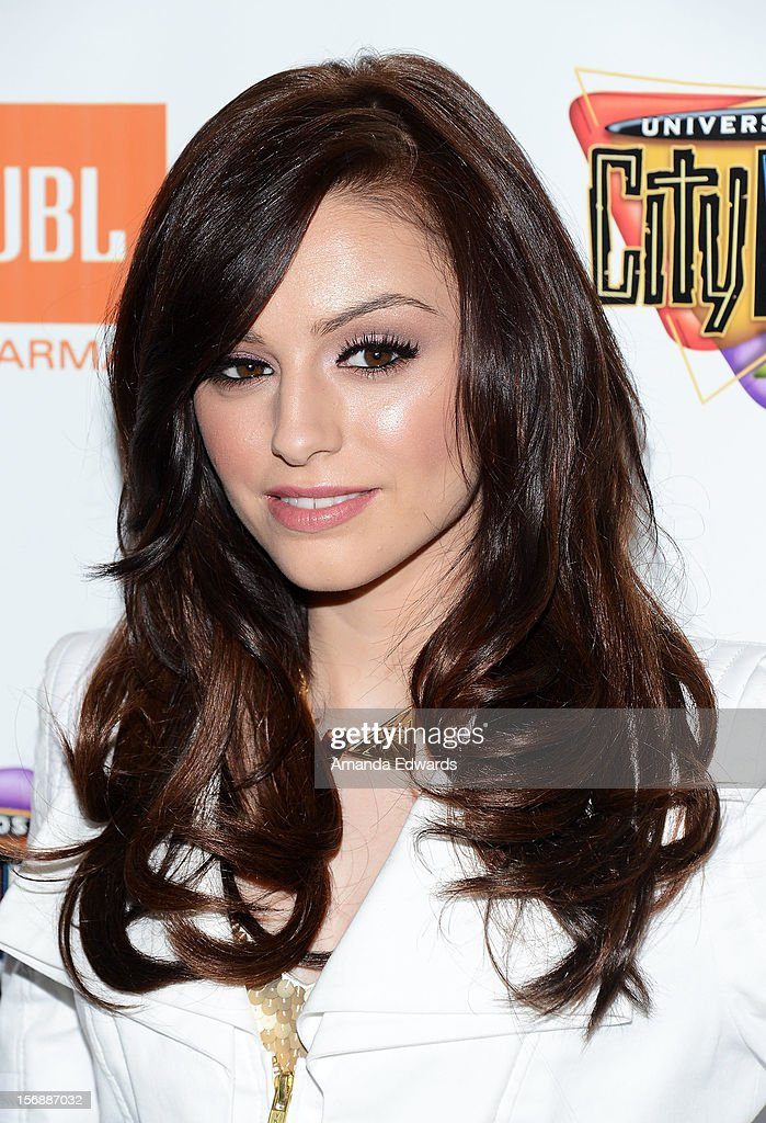 Recording artist Cher Lloyd poses before performing onstage at the 5 Towers Black Friday Concert at 5 Towers Outdoor Concert Arena on November 23, 2012 in Universal City, California.