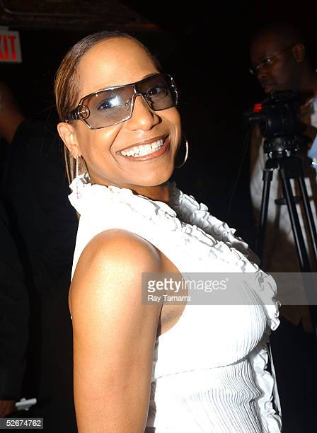 Recording artist Cherrelle poses for photos at Sister 2 Sister's Sweet 16th Gala at Crobar April 20 2005 in New York City