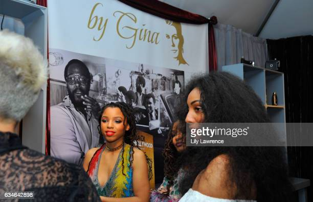 Recording artist Chloe Bailey and Diana Gordon attend GRAMMY Gift Lounge during the 59th GRAMMY Awards at STAPLES Center on February 10, 2017 in Los...