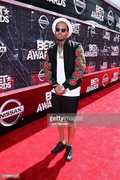 Recording artist Chris Brown arrived at the BET Make A Wish Foundation Recipients BET Experience At LA Live Red Carpet arrivals Weekend Events on...