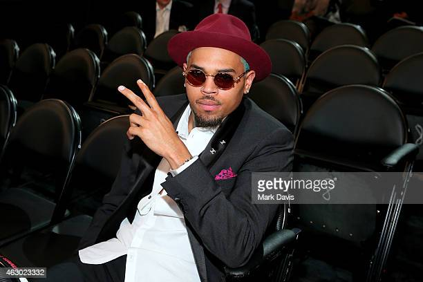 Recording artist Chris Brown attends The 57th Annual GRAMMY Awards at STAPLES Center on February 8 2015 in Los Angeles California