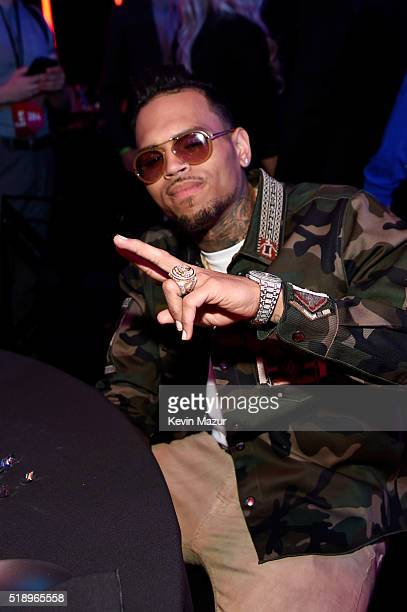 Recording artist Chris Brown attends the iHeartRadio Music Awards which broadcasted live on TBS TNT AND TRUTV from The Forum on April 3 2016 in...
