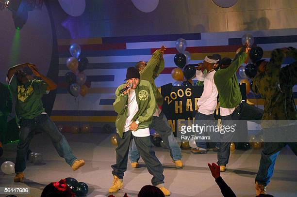 Recording artist Chris Brown performs at 106 And Park's 106 And Party New Years Eve Show Taping at CBS Studios December 16 2005 in New York City