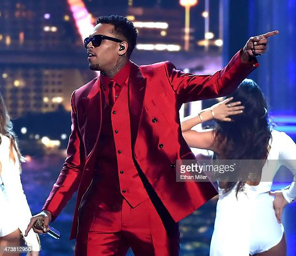 Recording artist Chris Brown performs onstage during the 2015 Billboard Music Awards at MGM Grand Garden Arena on May 17 2015 in Las Vegas Nevada