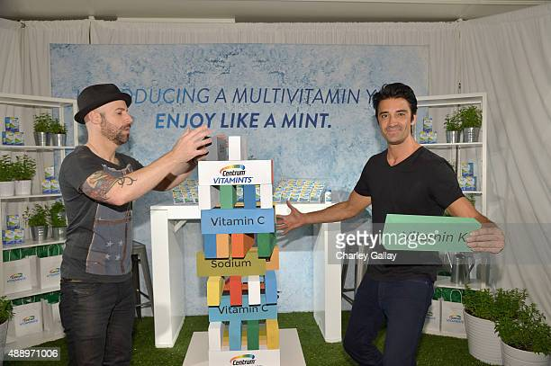 """Recording artist Chris Daughtry and actor Gilles Marini pose with Centrum Vitamints at EXTRA's """"WEEKEND OF   LOUNGE"""" produced by On 3 Productions at..."""